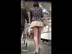 Milf Asian upskirt dim panties